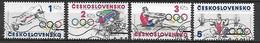 TCHECOSLOVAQUIE  -  1984.   Y&T N° 2600 à 2603 Oblitérés. .Sports.   Série Complète. - Gebruikt