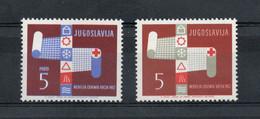Jugoslavia - 1962 - Pro Croce Rossa - 2 Valori - Nuovi ** - (FDC30139) - Neufs