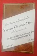 CROISIÈRE IMPÉRIALE Du PAQUEBOT FRANCE - 1969 - Cadeau, Fin De Croisière Du 28 Avril - PARFUM, Neuf Sous Scellé - Rare - Barche