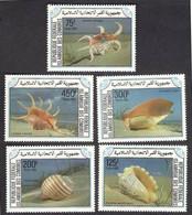 ISLAMIC Des COMORES COMORO ISLAND 1985 - Sea Shells, Complete Set Of 5v MNH - Comores (1975-...)