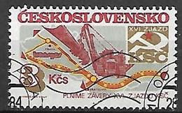 TCHECOSLOVAQUIE  -  1984.   Y&T N° 2606 Oblitéré .  Gazoduc - Gebruikt