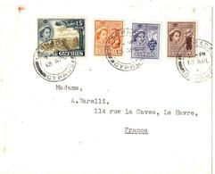 LETTRE  POUR LE HAVRE . 1960 - Chipre (...-1960)