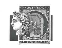 Buvard Timbre-Poste Avec Effigie De Cérès Et Gravure Encyclopédie De Diderot - Non Classés