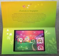 Singapore Festivals 2012 Diwali Fireworks Lion Dance Christmas Hari Raya Chinese New Year Festival (p.pack) MNH - Singapore (1959-...)