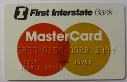 USA - Credit Card - MasterCard - First Interstate Bank - Exp 10/82 - Used - Credit Cards (Exp. Date Min. 10 Years)