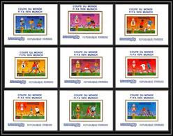 86224 Mi N°420/428 Football Soccer Munich Wold Cup 1974 Deluxe Miniature Sheets ** MNH Khmère Cambodia Cambodge - Kambodscha
