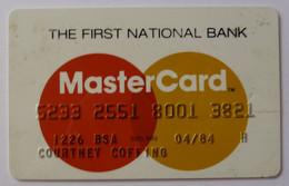 USA - Credit Card - MasterCard - First National Bank - Exp 04/84 - Used - Carte Di Credito (scadenza Min. 10 Anni)