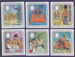 Republic Des COMORES COMORO ISLAND 1978 - Queen Elizabeth Coronation, Complete Set Of 6v. IMPERF MNH - Comores (1975-...)