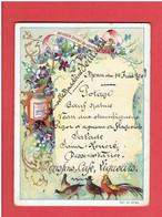 CHROMO PUBLICITAIRE LIEBIG EXTRAIT DE VIANDE MENU DU 17 JUIN 1908 DE MADELEINE VEILLARD - Liebig