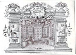 DE 673- Carte Porcelaine Du A. De Preter, Patissier Et Fabricant De Pain D'epice, Gand, Imp. A. Verbaere - Sin Clasificación