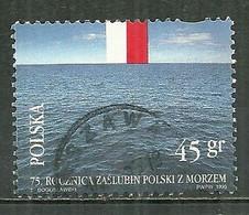 POLAND Oblitéré 3312 La Pologne Et Le Mer Baltique Drapeau - Usati