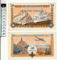 """Billet De 50 Vaillants - Scoutisme, """"Toujours Plus Haut"""" , Henri Neveu (2éme Billet) - Fictifs & Spécimens"""