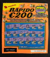 RASP99, Lottery Tickets, Portugal, « Raspadinha », « Instant Lottery », « RÁPIDO € 200 », Nº 442 - Lottery Tickets
