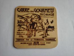 Etiquette Fromage En Bois ,   Carré  Des Gourmets - Fromage