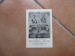 Immagine Sacra Sacra Effigie Santi POLICARPO E FELICE Patroni Francavilla Sul Sinni Potenza - Devotion Images