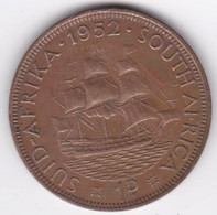 Afrique Du Sud 1 Penny 1952. George VI. Cuivre. KM# 34.2 - South Africa