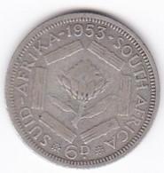 South Africa 6 Pence 1953 Elizabeth II, En Argent. KM# 48 - South Africa