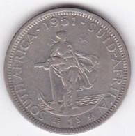 South Africa 1 Shilling 1951 , George VI , En Argent , KM# 37.2 - Afrique Du Sud