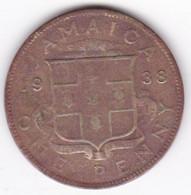 Jamaïque 1 Penny 1938 George VI , En Laiton Nickel , KM# 32 - Jamaica