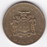 Jamaïque 1 Penny 1966 Elizabhet II , En  Nickel Brass , KM# 39 - Jamaica