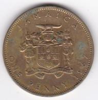 Jamaïque 1 Penny 1967 Elizabhet II , En  Nickel Brass , KM# 39 - Jamaica