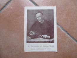 Immagine Sacra B.GIUSEPPE M.PIGNATELLI Della Compagnia Di Gesù Beato Dal 1933 Al Verso Biografia - Devotion Images