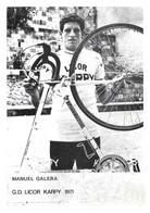 CARTE CYCLISME MANUEL GALERA TEAM LICOR KARPY 1971 - Ciclismo