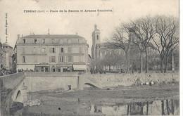 CPA Figeac Place De La Raison Et Avenue Gambetta - Figeac