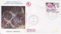 Terre Adélie, FDC Du N° 173 (Bloc De Grenat Almandin) Obl. Premier Jour Le 1/1/93 - Lettres & Documents