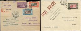 SENEGAL Poste Aèrienne - Let. 2 Env. Par Avion Avec Griffe 1er Vol De 1925, DAKAR-ZINDER Et DAKAR-TOULOUSE, TB - Unclassified