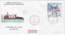Terre Adélie, FDC Du N° 181 (l'Astrolabe) Obl. Premier Jour Le 1/1/93 - Lettres & Documents