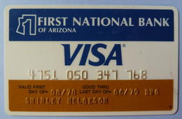 USA - Credit Card - VISA - First National Bank Of Arizona - Exp 06/79 - Used - Carte Di Credito (scadenza Min. 10 Anni)