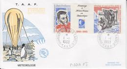 Terre Adélie, FDC Du N° 183 A (Météo-France En Antarctique) Obl. Premier Jour Le 1/1/93 - Lettres & Documents