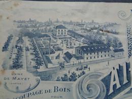 FACTURE - 72 - DEPARTEMENT DE LA SARTHE - MAYET 1907 - MANUFACTURE DE BALAIS EN PAILLE DE SORGO : ALFRED GALLOIS - Unclassified