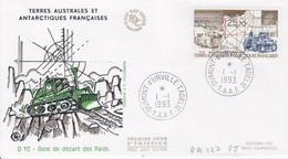 Terre Adélie, FDC Du N° PA 127 (D 10 Base De Départ Des Raids) Obl. Premier Jour Le 1/1/93 - Lettres & Documents