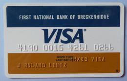 USA - Credit Card - VISA - First National Bank Of Breckenridge- Exp 11/83 - Used - Carte Di Credito (scadenza Min. 10 Anni)