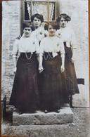 CARTE PHOTO FAMILLE DE BUSSIERES (42) écrite Le 19 Juillet 1911 à Mme André Mallière De Tarare - Other Municipalities