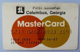 USA - Credit Card - MasterCard - First National Columbus Georgia- Exp 06/83 - Used - Carte Di Credito (scadenza Min. 10 Anni)