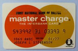 USA - Credit Card - Master Charge - First National Bank Of Dalton- Exp 01/77 - Used - Carte Di Credito (scadenza Min. 10 Anni)