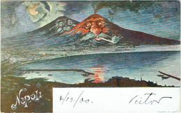 Illustrateur. Surréalisme. Napoli. Volcan Vésuve Humanisé. - 1900-1949