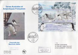 Terre Adélie, Grand FDC Du F 638 (Passerelle Des Manchots) Obl. Premier Jour Le 02.11.2012 + Coordonnées - Lettres & Documents