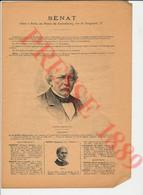 Sénat Portrait Philippe Elie Le Royer Sénateur Alphonse Peyrat Audiffret Pasquier Jean-Baptiste Billot Henri Bochet149/7 - Werbung