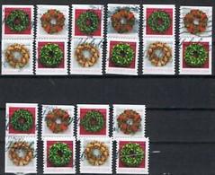 USA Weihnachten 2019 Weihnachtskränze Alle 20 Möglichkeiten Aus MH Gestempelt - Used Stamps