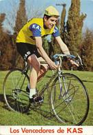 CARTE CYCLISME FRANCISCO GALDOS SIGNEE TEAM KAS 1971 - Cycling