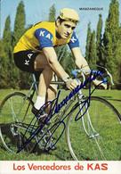 CARTE CYCLISME JESUS MANZANEQUE SIGNEE TEAM KAS 1971 - Cycling
