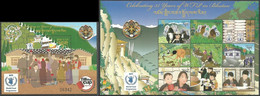 Bhutan 2009, 35 Years Of WFP In Bhutan, MNH Sheetlet And S/S - Bhoutan