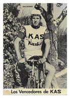 CARTE CYCLISME FRANCISCO JAVIER GALDEANO TEAM KAS 1971 - Ciclismo