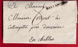 MARQUE SARDE SALLANCHES HAUTE SAVOIE 1819 POUR DOUVAINE - 1801-1848: Precursori XIX
