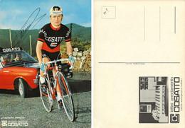 CARTE CYCLISME WLADIMIRO PANIZZA SIGNEE TEAM COSATTO 1971 ( FORMAT 15 X 21 ) - Cycling