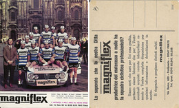 CARTE CYCLISME GROUPE TEAM MAGNIFLEX 1971 ( DECOUPE, FORMAT 11 X 13,5 ) - Ciclismo